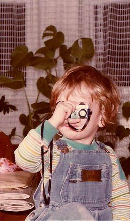 Contact Shanghai photographer Philippe Roy - Me with my squirt camera at 4 years old.